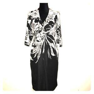 NWT Donna Ricco New York Black/White Floral Dress